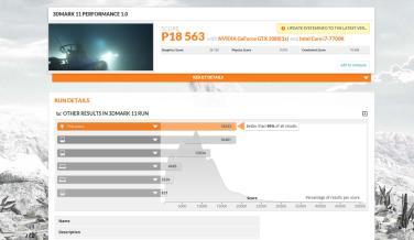 Resultado de 3DMark11 de Lenovo Legion Y920 Tower