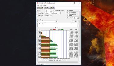 Resultado de ATTO Disk Benchmark de Lenovo Legion Y920 Tower