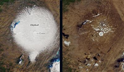 Muerte de un  glaciar