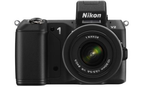La Nikon 1 V2 tiene un aspecto similar a una cámara réflex de gama media