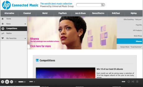 Puedes probar el servicio en hpconnectedmusic.com
