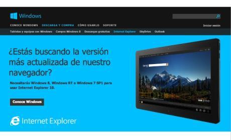 Preview de Internet Explorer 10 para Windows 7