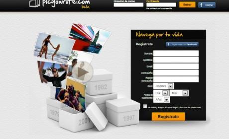 Interfaz de Picyourlife