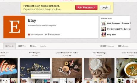 Interfaz Pinterest