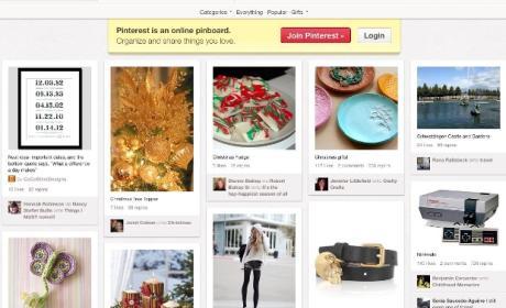 Interfaz de inicio de Pinterest
