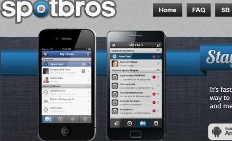 app spotbros red social mensajería instantánea