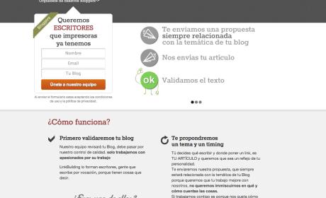 Linkbuilding pone en contacto a empresas y blogueros profesionales.