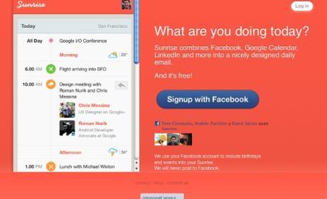 Sunrise nuevo proyecto de los creadores de Foursquare.