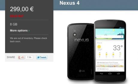 Nexus 4 en Google Play