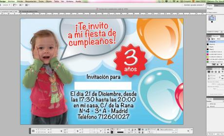 invitación InDesign
