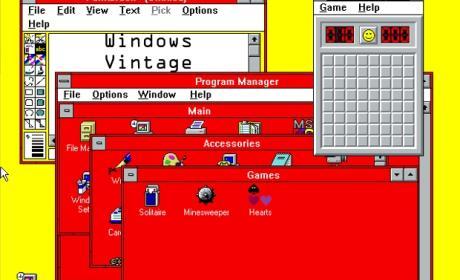 """Windows Vintage con la combinación de colores """"Sangre y Arena"""", todo un clásico"""