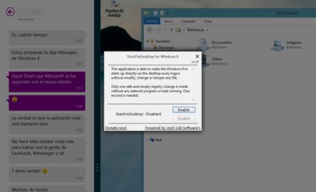 Configura Windows para que utilice el escritorio clásico de forma predeterminada, sin pasar por Modern UI al iniciar sesión