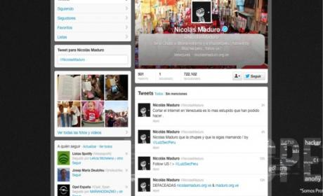Twitter hackeado Nicolás Maduro