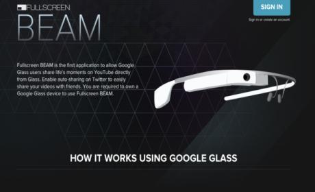 Beam Google Glass
