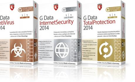 G Data 2014 está disponible en 3 versiones: Antivirus, Internet y Total Proteccion