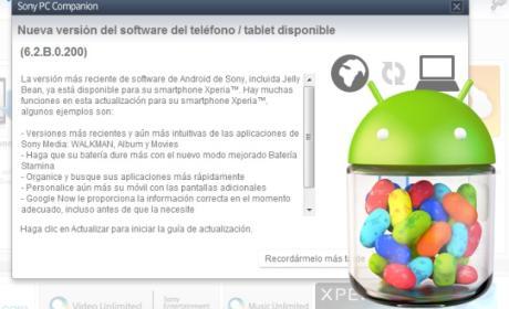 Jelly Bean 4.1.2 para Xperia S ya está disponible