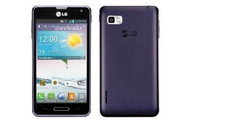 LG Optimus F3 filtrado en color morado