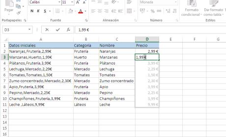 Extraer datos