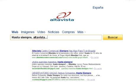 Altavista y otros once servicios de Yahoo! cierran sus puertas