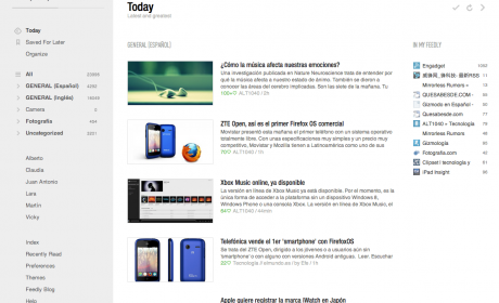 Lee y administra tus feeds en Feedly