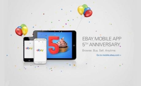 La app de ebay cumple cinco años