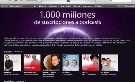iTunes alcanza los mil millones de suscripciones a podcasts