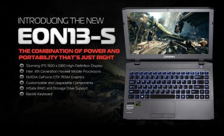 Origin EON13-S, el nuevo portátil con procesador Haswell