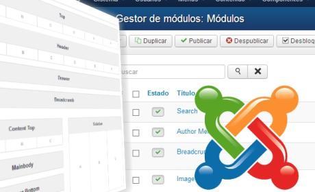 Usa los módulos de Joomla y elige qué mostrar en la portada