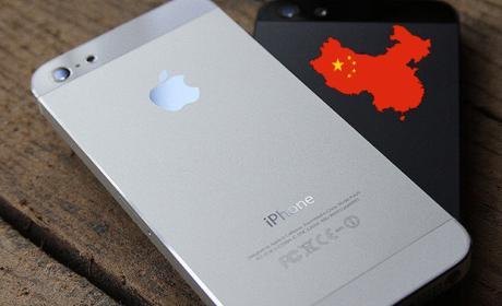 iPhone con mapa de China