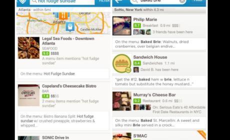 Foursquare ahora te permite buscar lugares según su menú