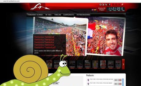 Página web de Fernando Alonso