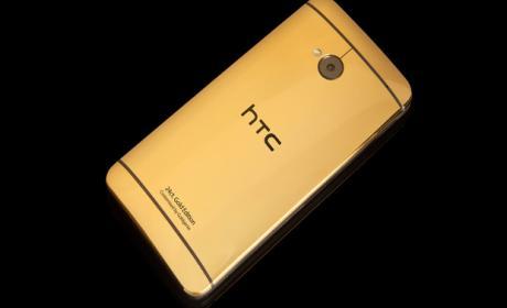 HTC One chapado en oro, oficial a un precio de 2.300 euros