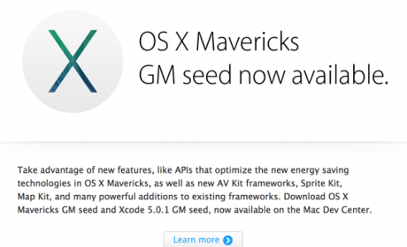 Mac OS X Mavericks lanza su versión golden master