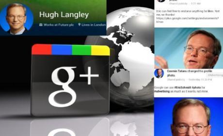 Usuarios Google+ cambian foto de perfil por imagen de Eric Schmidt