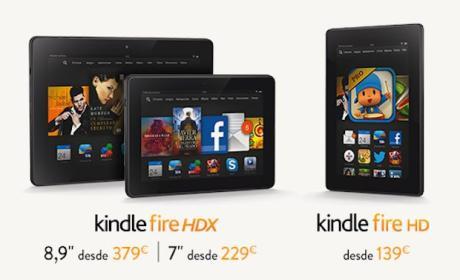 Kindle Fire HD, HDX 7 y HDX 8,9 ya están disponibles en Amazon ES