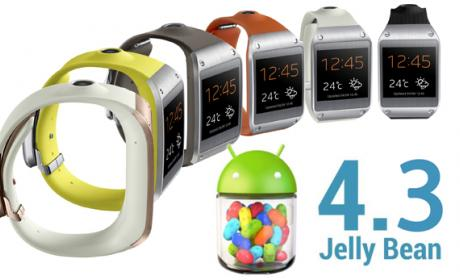 Android 4.3 para Samsung Galaxy incluye soporte para el Gear