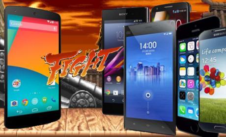 Nexus 5 contra el resto de smartphones de gama alta