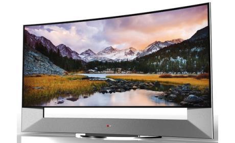 LG 105UB9, pantalla LED curvada de 106 pantallas con resolución 4K UltraHD