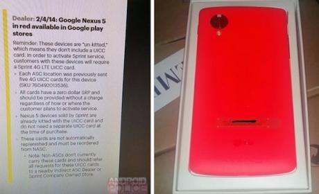 El Nexus 5 podría estar disponible próximamente en rojo