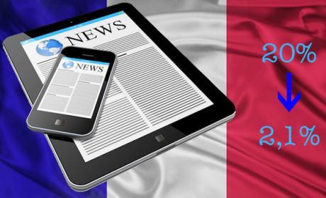 Francia baja el IVA de la prensa digital del 20% al 2,1%