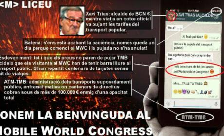 La plataforma Stop Pujades ocupa el Mobile World Center