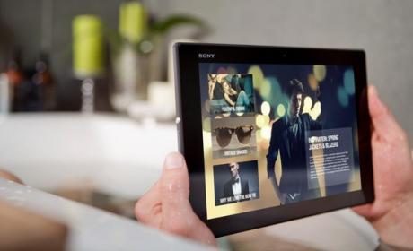 Sony presenta la Sony Xperia Z2 tablet en el Mobile World Congress de Barcelona