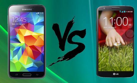 Samsung Galaxy S5 vs LG G2. Comparativa