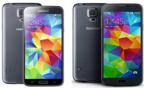 Goophone S5, el clon chino, imitación barata, del Samsung Galaxy S5 en el MWC 2014