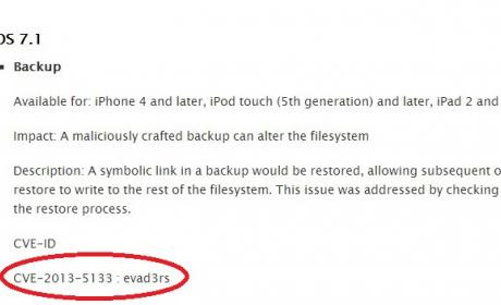 apple agradece a evad3rs jailbreak ios 7.1