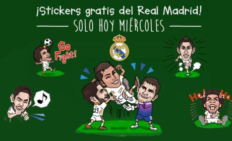 LINE: Los Stickers del Real Madrid Champions gratis sólo hoy