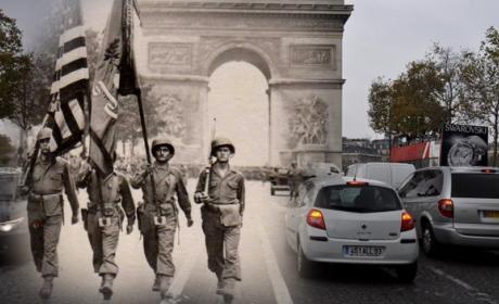 Ghosts of History, fotos de la Segunda Guerra Mundial fundidas con imágenes actuales en la misma localización.