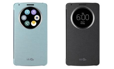 Fundas LG G3 QuickCase presentadas oficialmente por LG, antes del lanzamiento del smartphone.