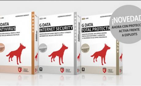 G Data estrena nuevas soluciones para usuarios particulares G Data Antivirus, G Data Internet Security y G Data Total Protection con anti-exploit, protección contra keyloggers y backup cifrado en la nube.