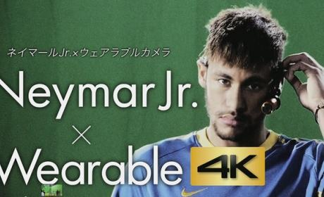 Neymar prueba la primera videocámara wearable con resolución 4K, la Panasonic HX-A500